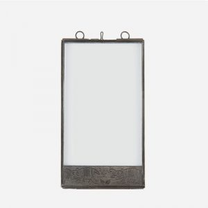 marco metálico de doble cristal 10x15cm - Elefantes