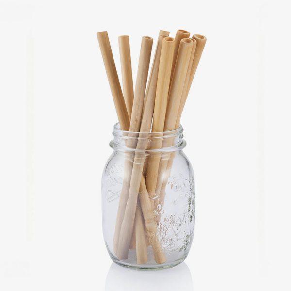 pajitas de bambú reutilizables para beber