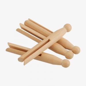 pinzas de madera para la ropa