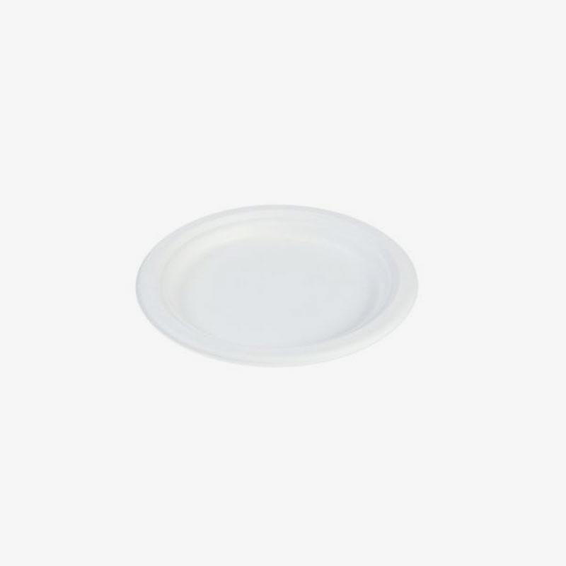 plato de bagazo pequeño de 17 cm (caña de azúcar)