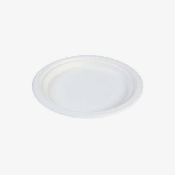 plato de bagazo grande de 22 cm (caña de azúcar)