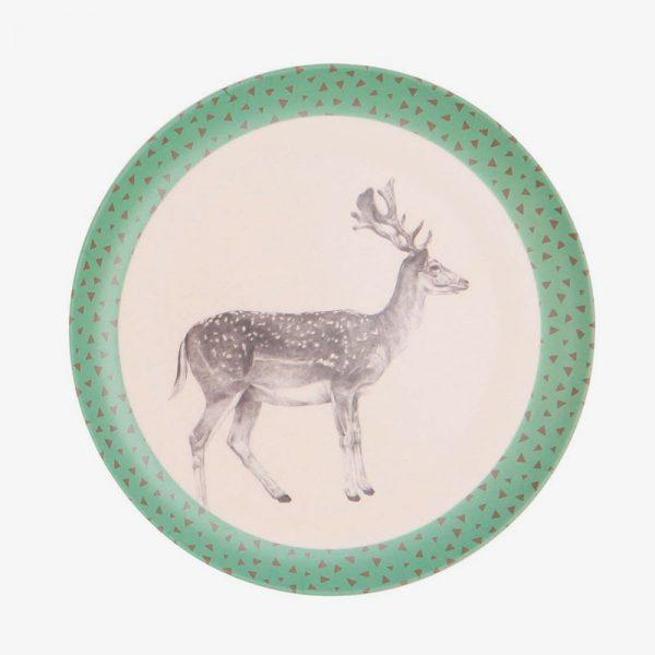 plato de bambú 21 cm ciervo