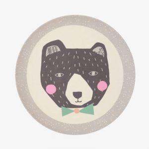 plato de bambú 21 cm papá oso