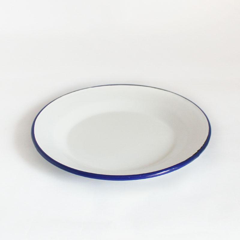 plato grande de acero esmaltado Azul