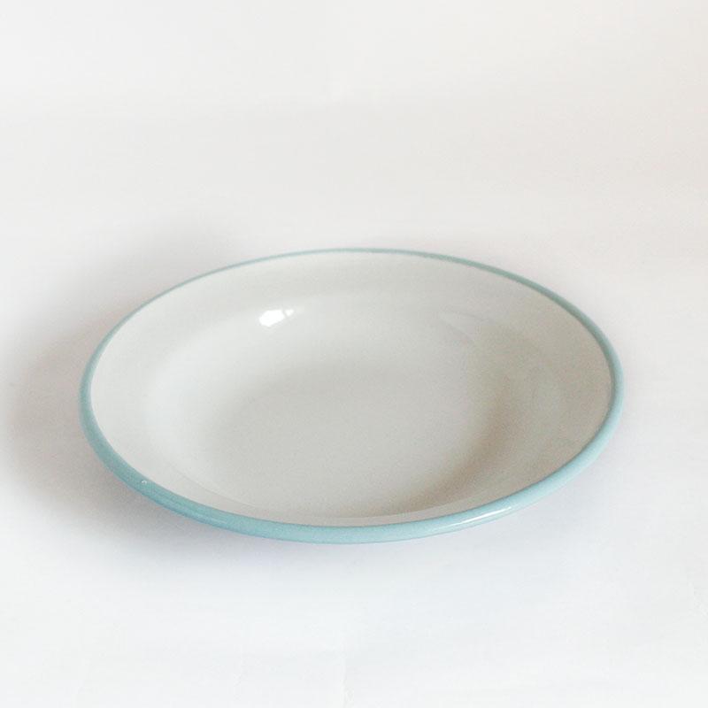 plato hondo de acero esmaltado Versalles
