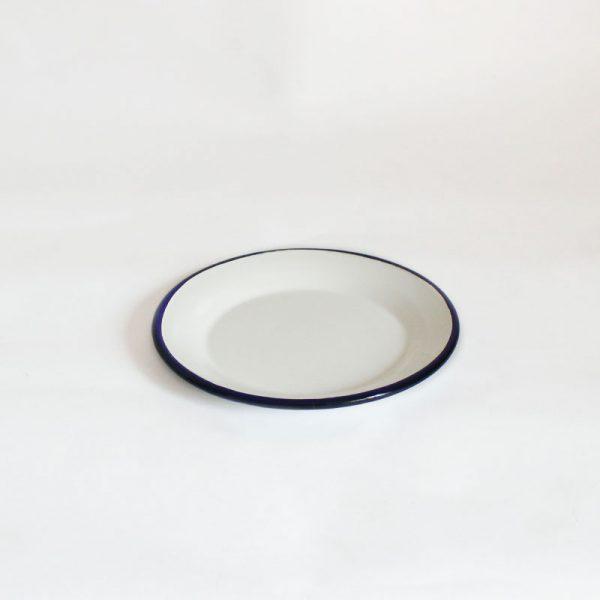 plato pequeño de acero esmaltado Azul