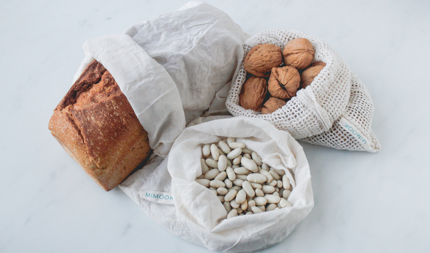 Bolsas de algodón orgánico Mimook