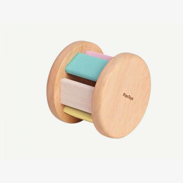 rueda de madera de colores pastel