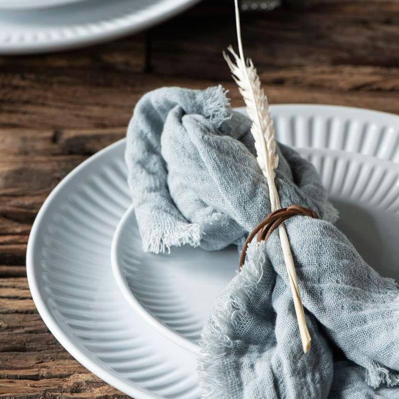 servilleta de algodón light blue