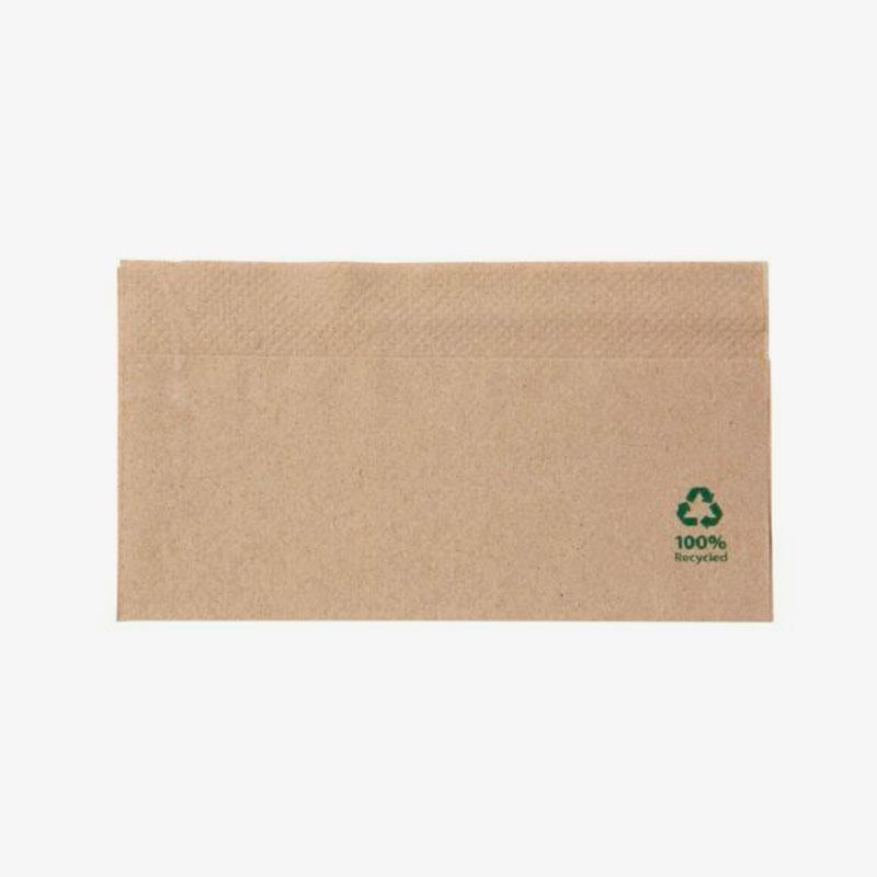 servilletas de papel reciclado 32x32 color marrón