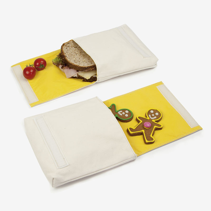 snack bag doble con comida