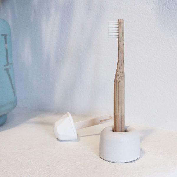 soporte para cepillo de dientes de cerámica