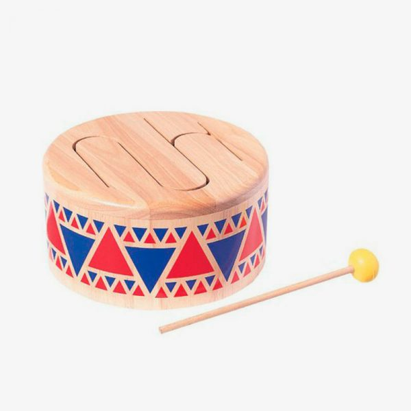tambor de madera plan toys