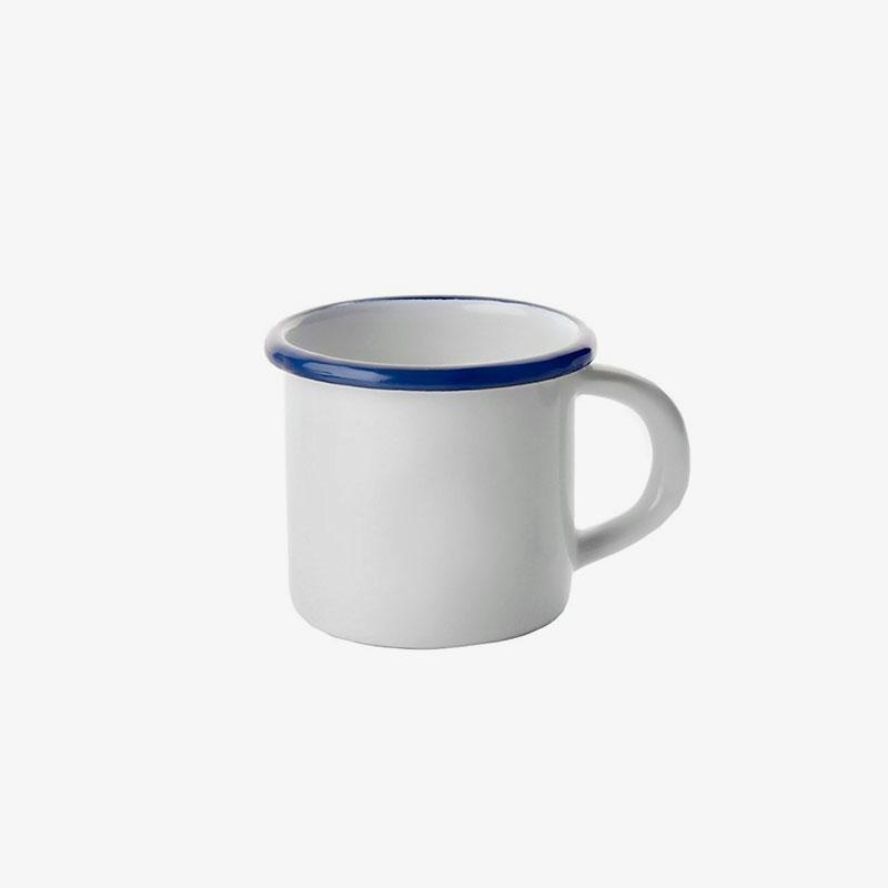 taza de acero esmaltado Azul
