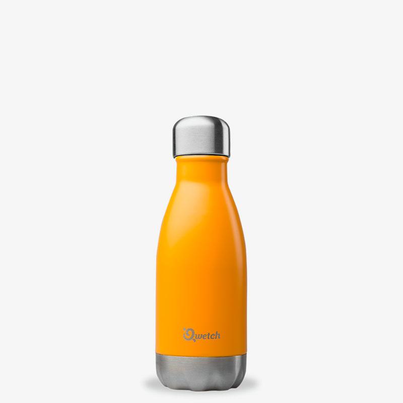 termo de acero inoxidable 260ml Qwetch naranja