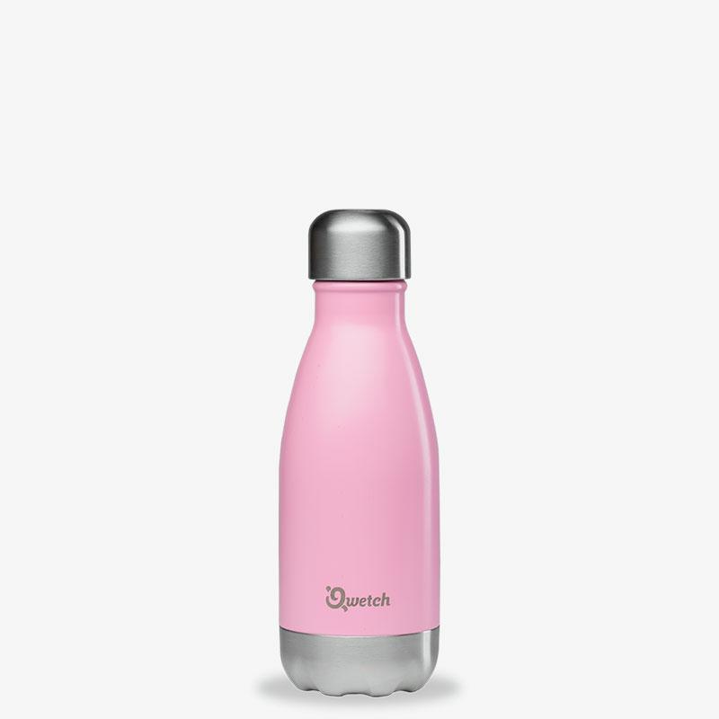termo de acero inoxidable 260ml Qwetch rosa pastel