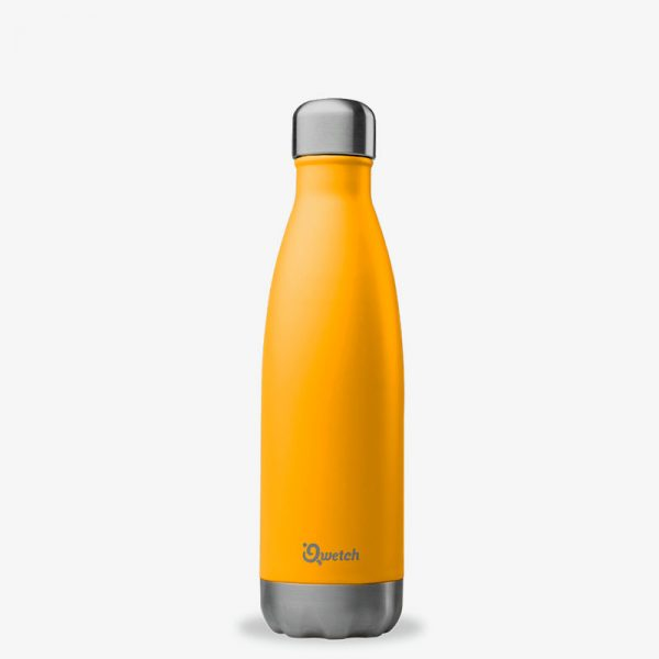 termo de acero inoxidable 500ml Qwetch naranja
