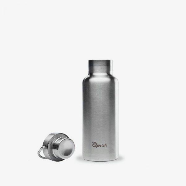 botella sin plástico de acero inoxidable 500ml abierta