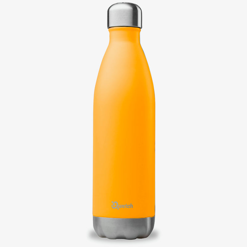 termo de acero inoxidable 750ml Qwetch naranja