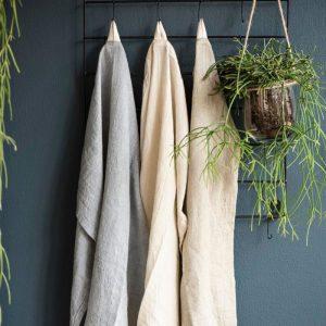 trapo de cocina de algodón gris claro