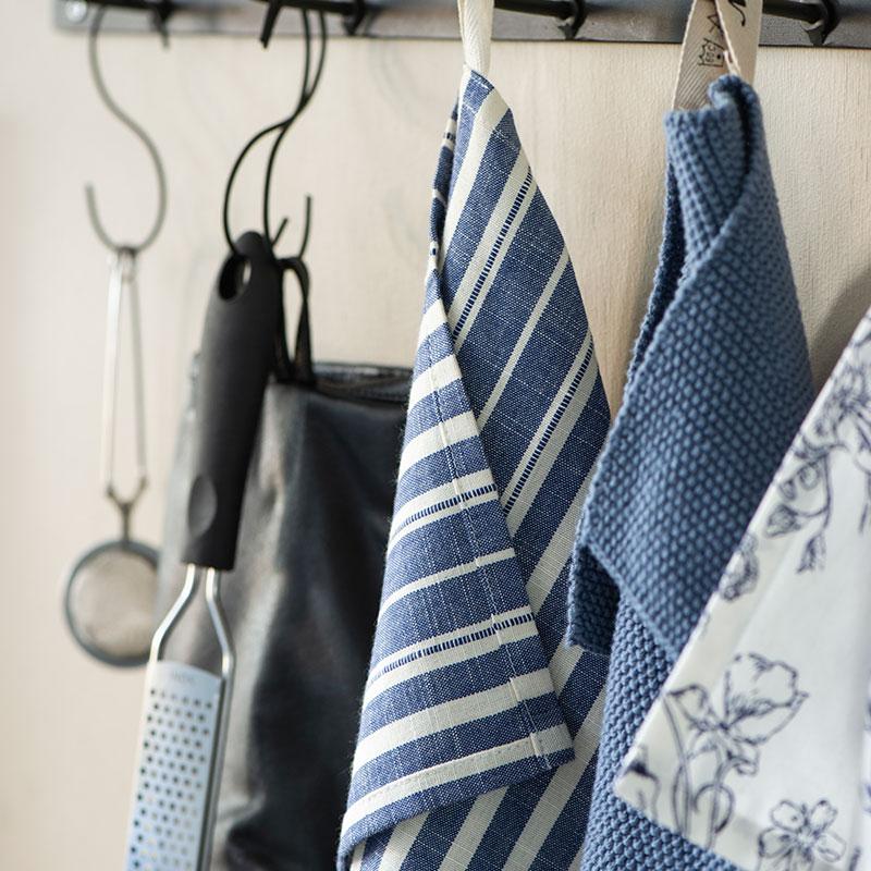 trapo de cocina de algodón rayas azules