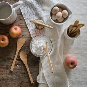 utensilios de cocina de bambú