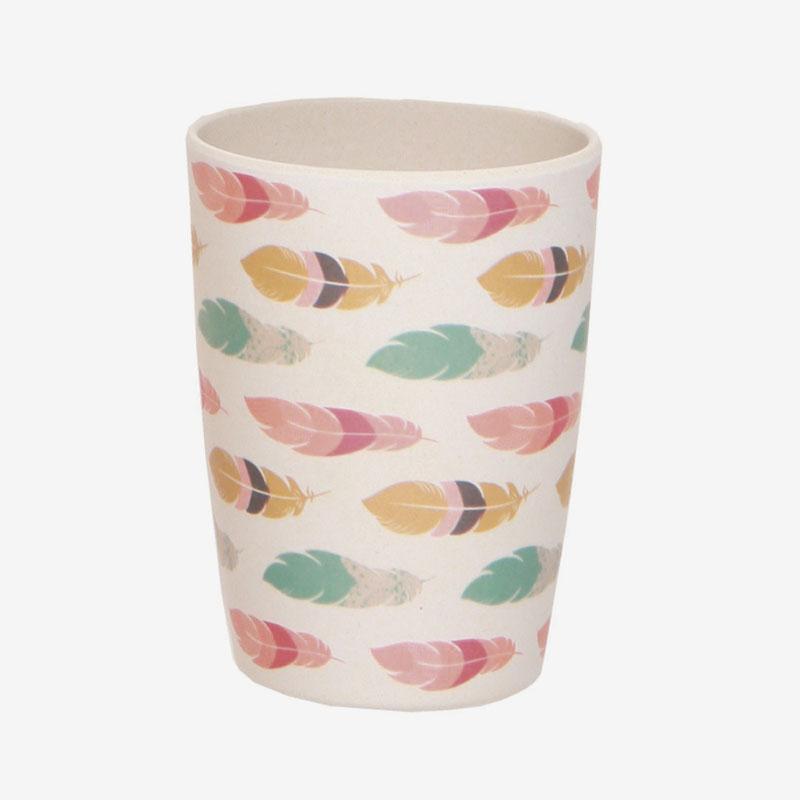 vaso de bambú plumas - atrapa sueños
