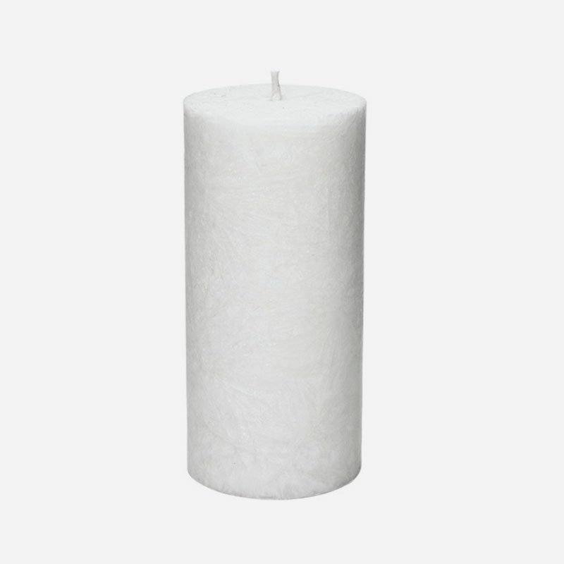 vela vegetal pilar grande blanca